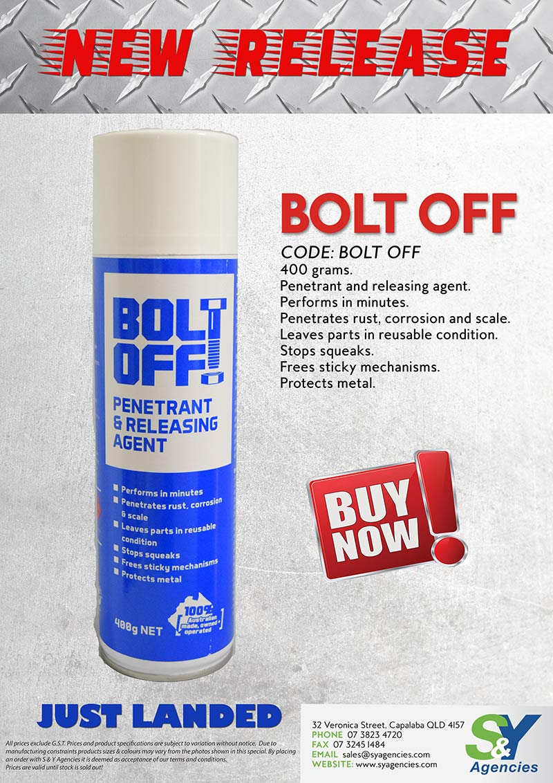 Bolt Off New Release Product Alert no price