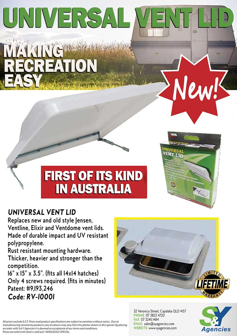 BRAND NEW Universal Vent Lid promo