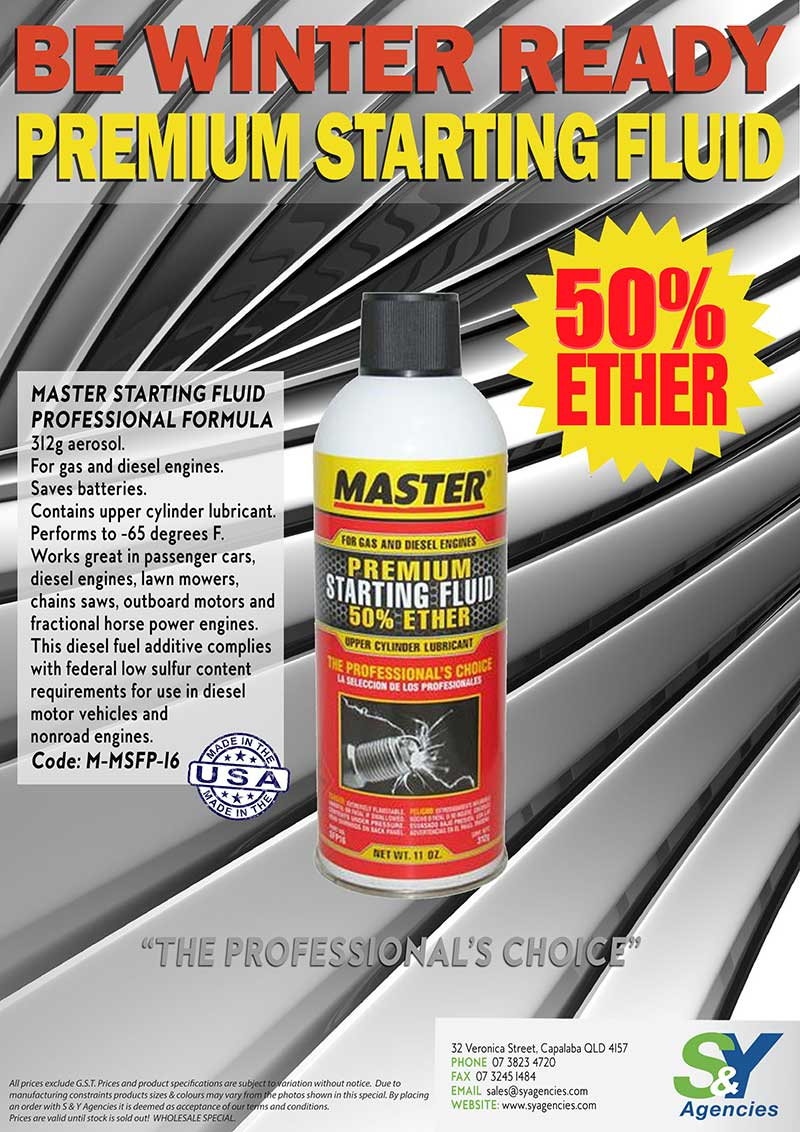 Be Winter Ready Master Premium Starting Fluid promo