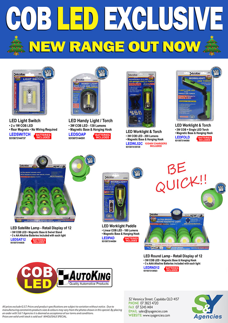 COB LED Exclusive New Range Out Now promo