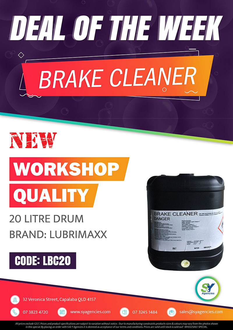 Deal of the week brake cleaner promo