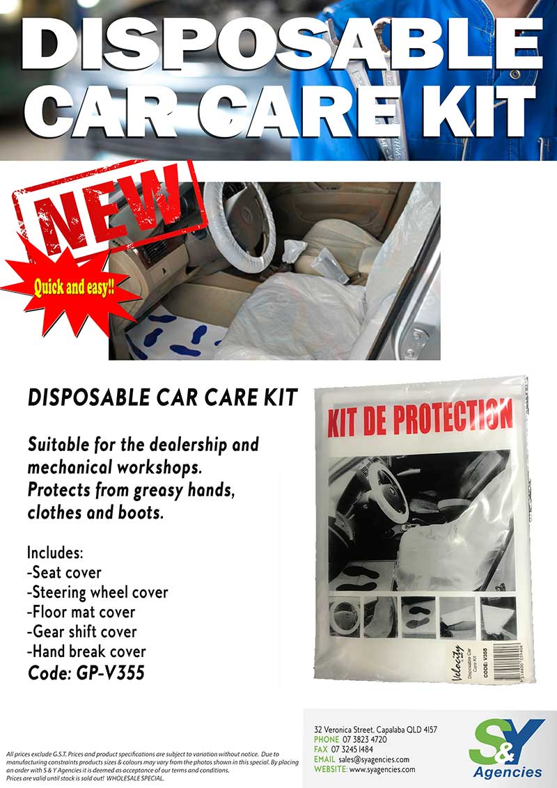 Disposable Car Care Kit promo