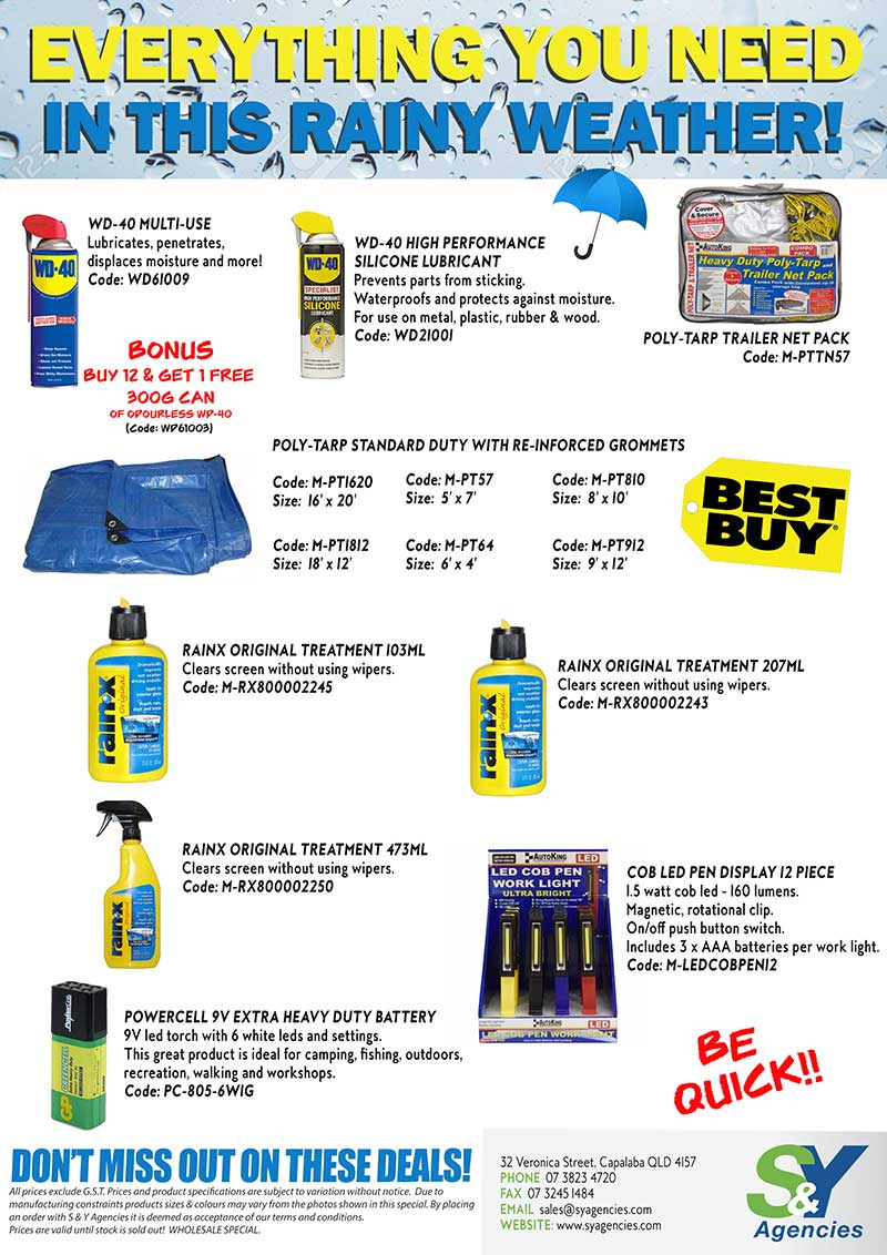 Everything You Need In This Rainy Weather promo