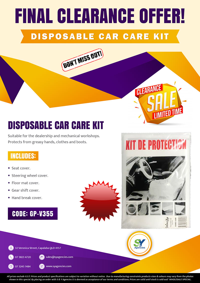 Final Clearance Car Care Kit A4 promo