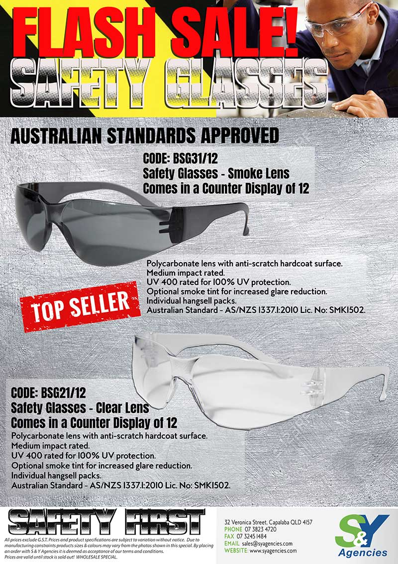 Flash Sale Safety First Top Seller Safety Glasses promo
