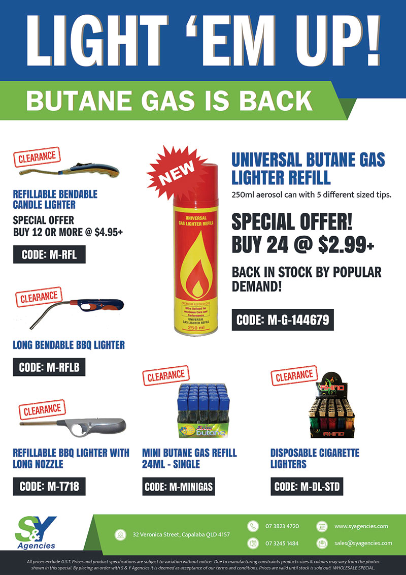 Light em up gas is back with price promo