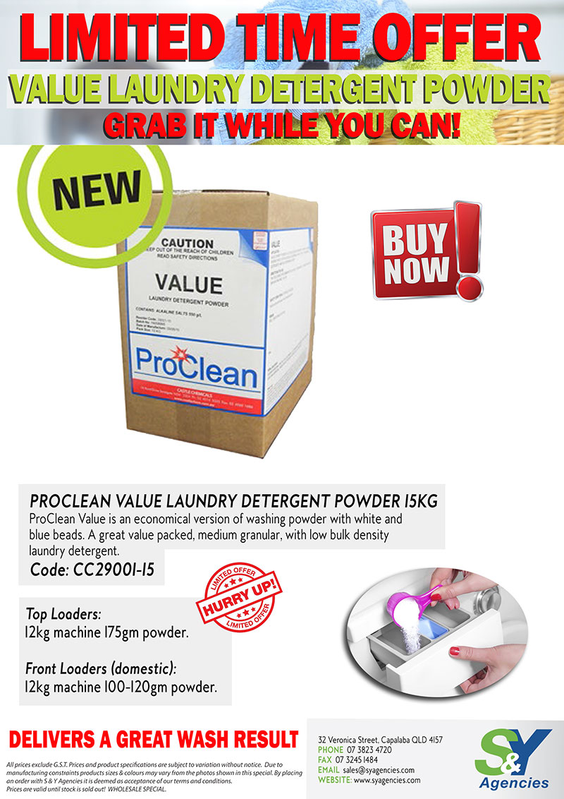 Limited Time Offer Value Laundry Deterent Powder promo