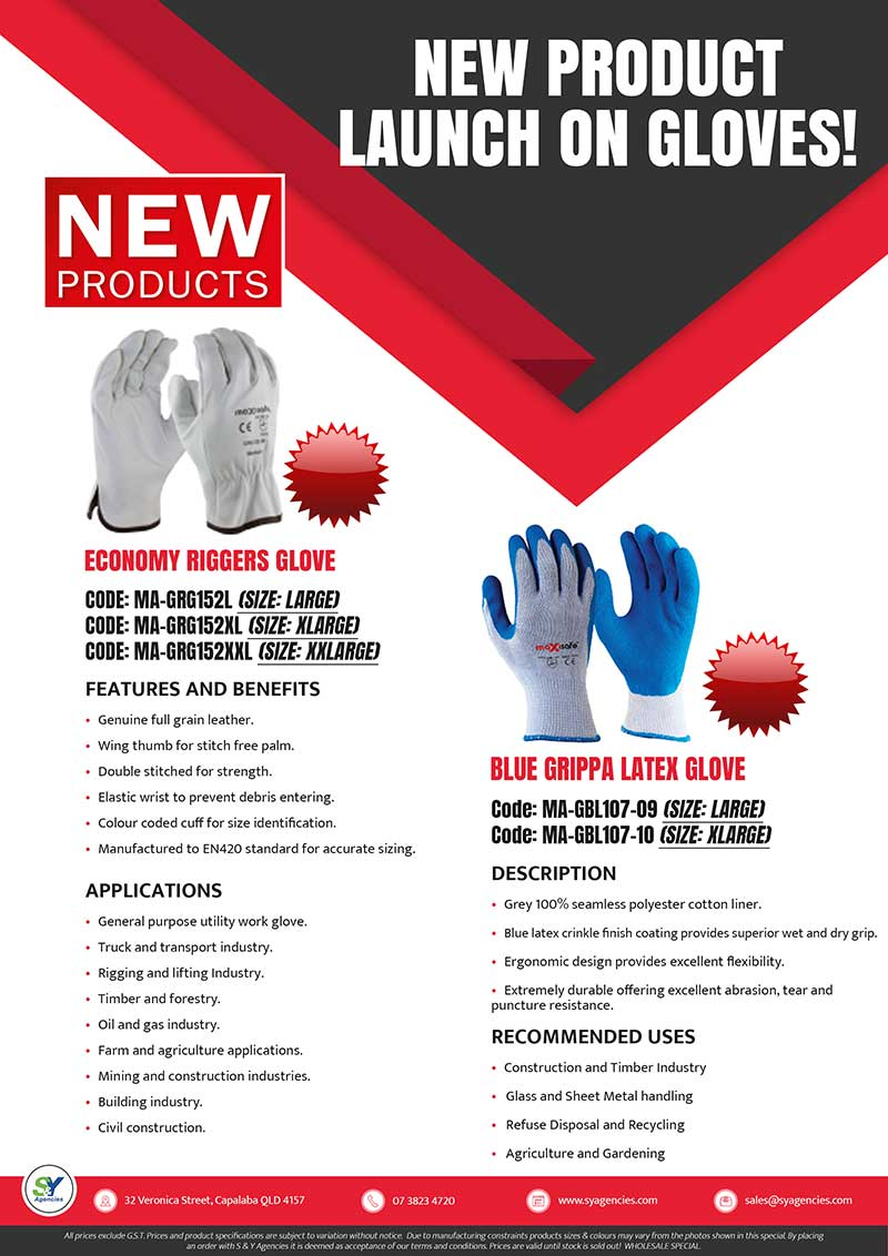 New Gloves Product Launch A4 promo