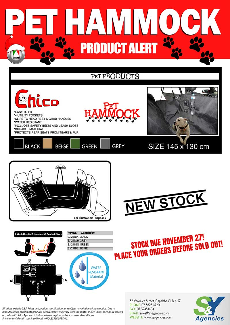 Pet Hammock Product Alert promo