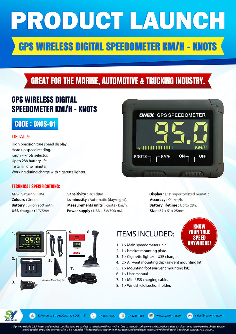 Product Launch Gps Wireless Digital Speedometer promo