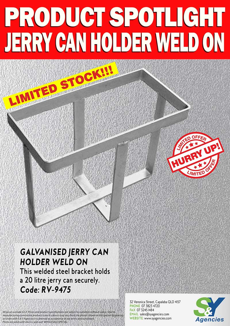 Product Spotlight Jerry Can holder Weld On promo