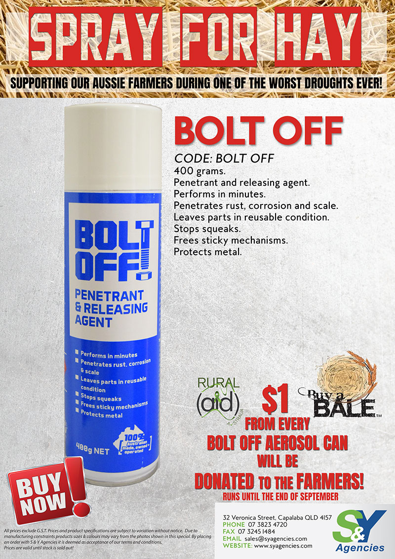 Spray for hay with bolt off promo