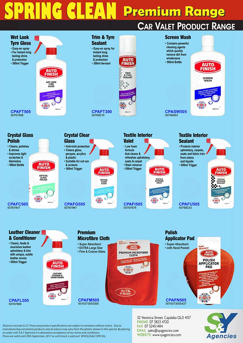 Spring Clean Sale Car Valet Product Range page2 no price