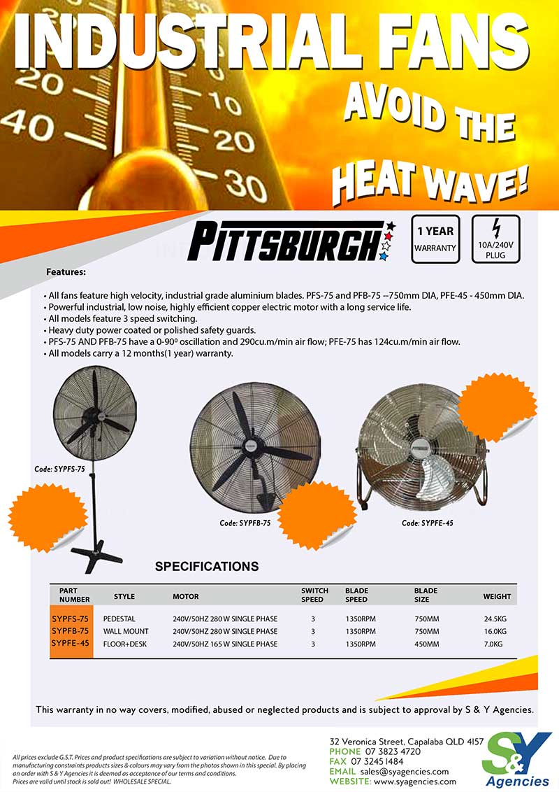 industrial fans avoid the heat wave promo