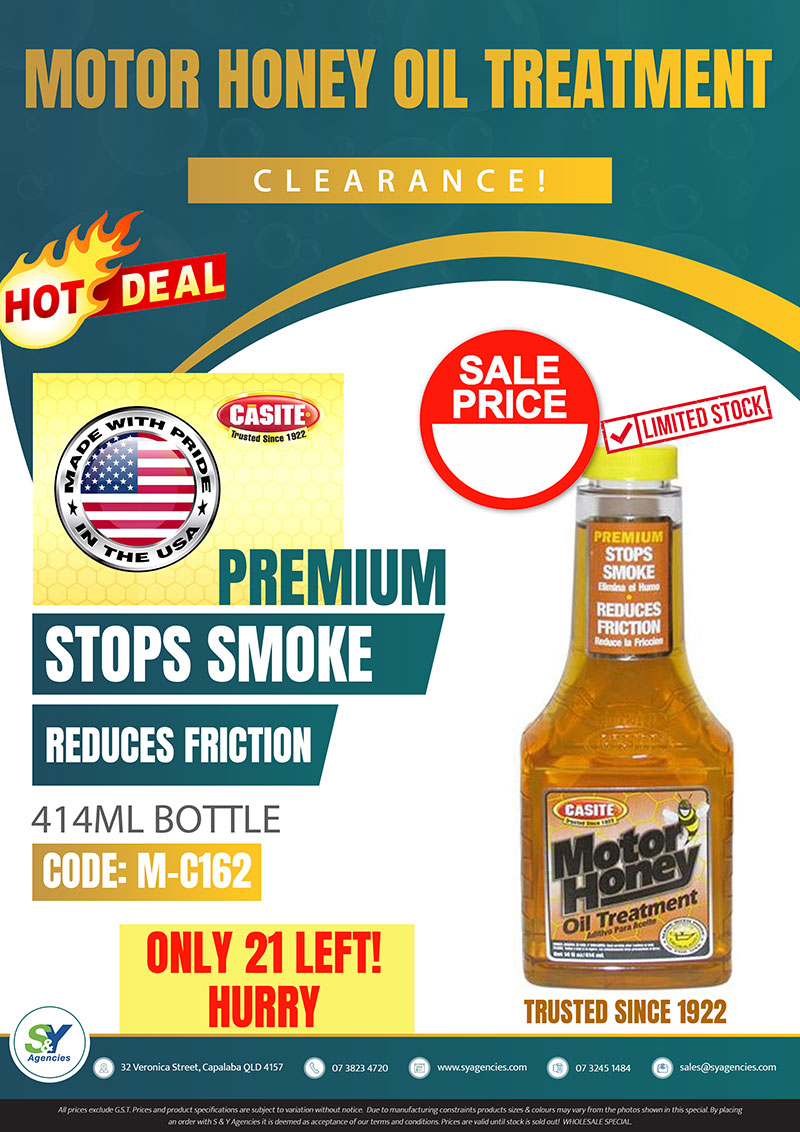 motor honey oil treatment clearance sale promo